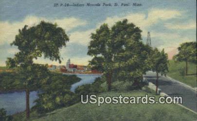 Indian Mound Park - St. Paul, Minnesota MN Postcard
