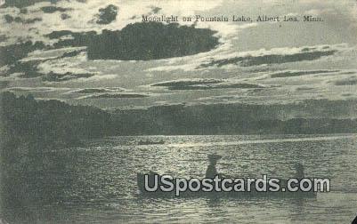 Fountain Lake - Albert Lea, Minnesota MN Postcard