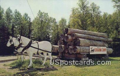 Tom's Logging Camp & Museum - Duluth, Minnesota MN Postcard