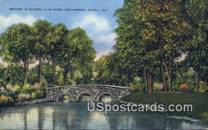 Bridge, Silver Lake Park - Rochester, Minnesota MN Postcard