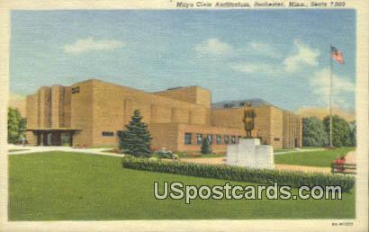 Mayo Civic Auditorium - Rochester, Minnesota MN Postcard