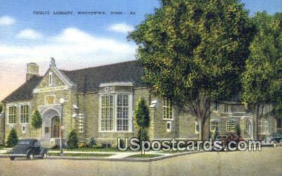 Public Library - Rochester, Minnesota MN Postcard