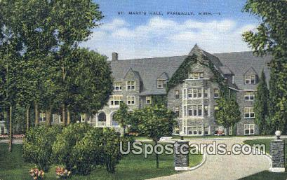 St Mary's Hall - Faribault, Minnesota MN Postcard