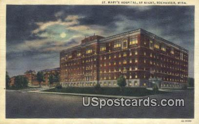 St Mary's Hospital - Rochester, Minnesota MN Postcard