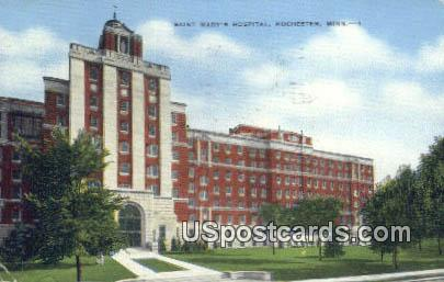 Saint Mary's Hospital - Rochester, Minnesota MN Postcard