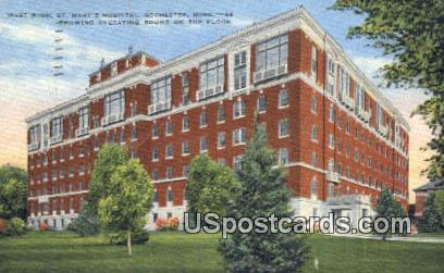 West Wing, St Mary's Hospital - Rochester, Minnesota MN Postcard