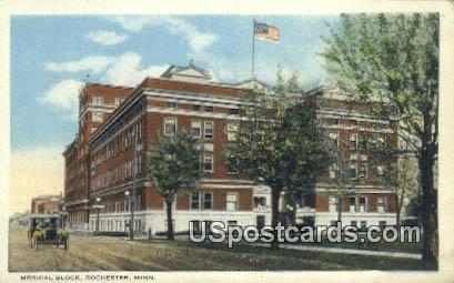 Medical Block - Rochester, Minnesota MN Postcard