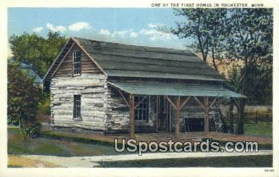 One of the First Homes - Rochester, Minnesota MN Postcard