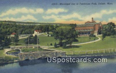 Municipal Zoo, Fairmount Park - Duluth, Minnesota MN Postcard