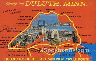 Duluth, Minn Postcard      ;      Duluth, Minnesota
