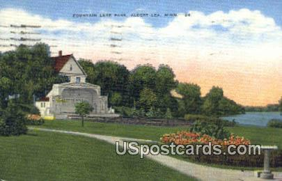 Fountain Lake Park - Albert Lea, Minnesota MN Postcard
