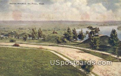 Indian Mounds - St. Paul, Minnesota MN Postcard
