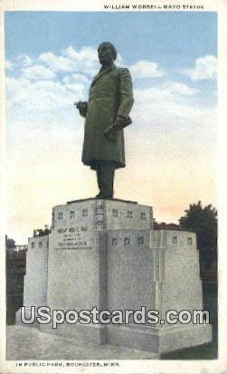 William Worrell Mayo Statue, Mayo Park - Rochester, Minnesota MN Postcard