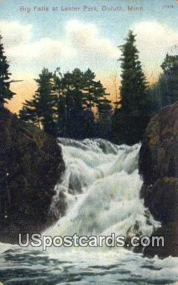 Big Falls, Lester Park - Duluth, Minnesota MN Postcard