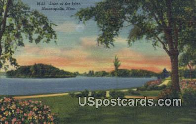 Lake of the Isles - Minneapolis, Minnesota MN Postcard