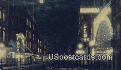 7th Street - St. Paul, Minnesota MN Postcard