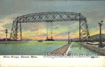 Arial Bridge - Duluth, Minnesota MN Postcard