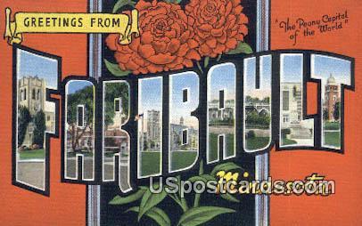 Faribault, Minnesota Postcard      ;          Faribault, MN
