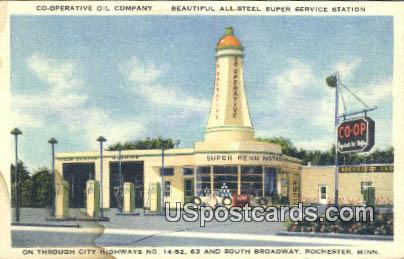 Co-Operative Oil Company - Rochester, Minnesota MN Postcard