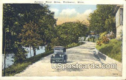 Zumbro River Drive - Rochester, Minnesota MN Postcard