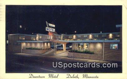 Downtown Motel - Duluth, Minnesota MN Postcard