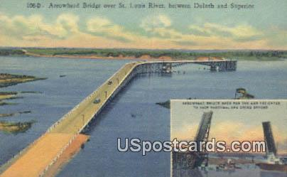 Arrowhead Bridge - Duluth, Minnesota MN Postcard