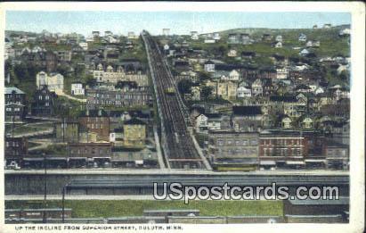 Incline, Superior Street - Duluth, Minnesota MN Postcard