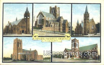 Principal Protestant Churches - Duluth, Minnesota MN Postcard