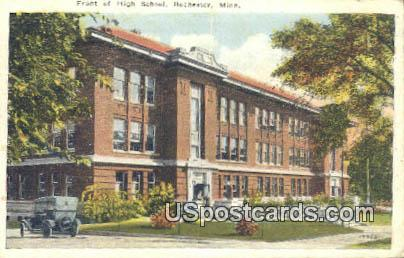 Front of High School - Rochester, Minnesota MN Postcard