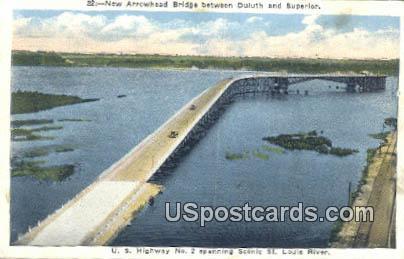 New Arrowhead Bridge - Duluth, Minnesota MN Postcard