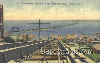 Famous Incline Railway - Duluth, Minnesota MN Postcard