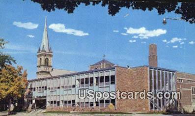 Immaculate Conception Church & School - Faribault, Minnesota MN Postcard