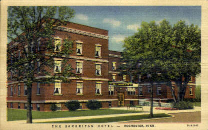The Samaritan Hotel - Rochester, Minnesota MN Postcard