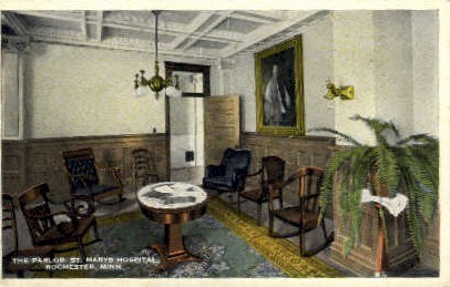 The Parlor, St. Marys Hospital - Rochester, Minnesota MN Postcard