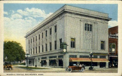 Masonic Temple - Rochester, Minnesota MN Postcard