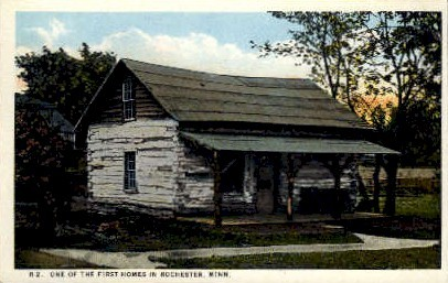 One of the First Homes in Rochester - Minnesota MN Postcard