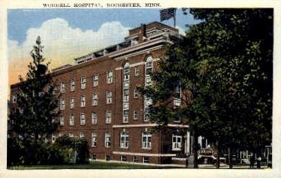 Worrell Hospital - Rochester, Minnesota MN Postcard