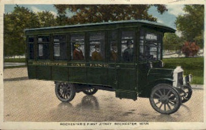 Rochester's First Jitney - Minnesota MN Postcard