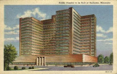Kahler Hospital - Rochester, Minnesota MN Postcard
