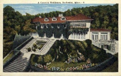 A Country Residence - Rochester, Minnesota MN Postcard