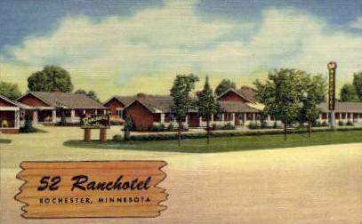 52 Ranchotel - Rochester, Minnesota MN Postcard