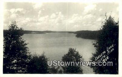 Real Photo - Eveleyth Lake - Eveleth, Minnesota MN Postcard