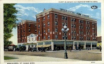 Breen Hotel - St. Cloud, Minnesota MN Postcard
