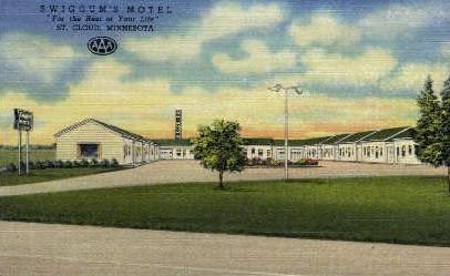 Swiggum's Motel - St. Cloud, Minnesota MN Postcard