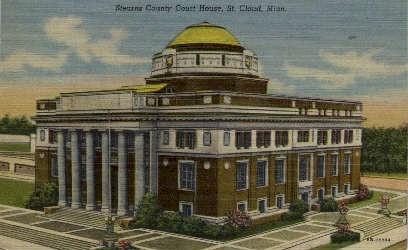 Stearns County Court House - St. Cloud, Minnesota MN Postcard