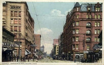Superior Street - Duluth, Minnesota MN Postcard