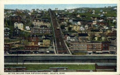 Incline from Superior Street - Duluth, Minnesota MN Postcard