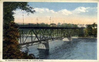 St. Germain Street Bridge  - St. Cloud, Minnesota MN Postcard
