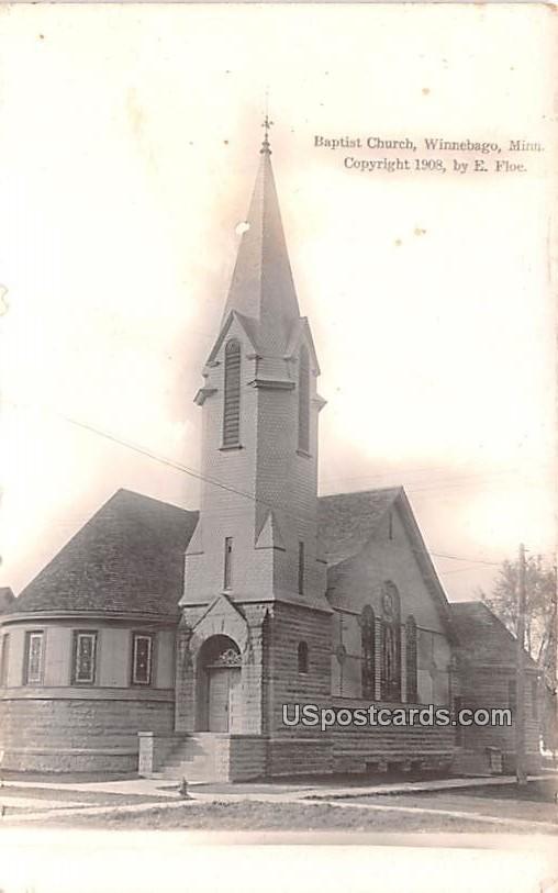 Baptist Church - Winnebago, Minnesota MN Postcard