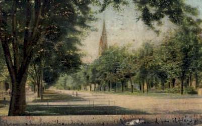Broadway and Central Park - Winona, Minnesota MN Postcard